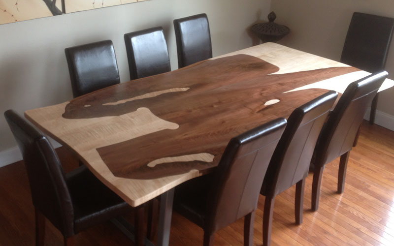 live edge dining table custom